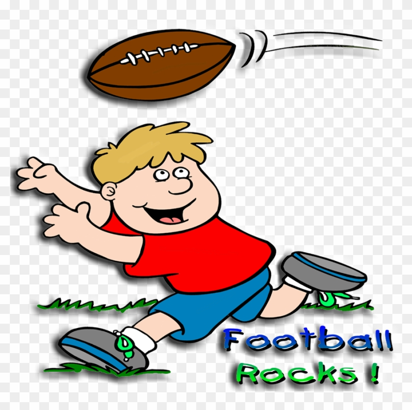 Images For Cartoon Kids Playing Football - Football Rocks Embroidery Design #250720