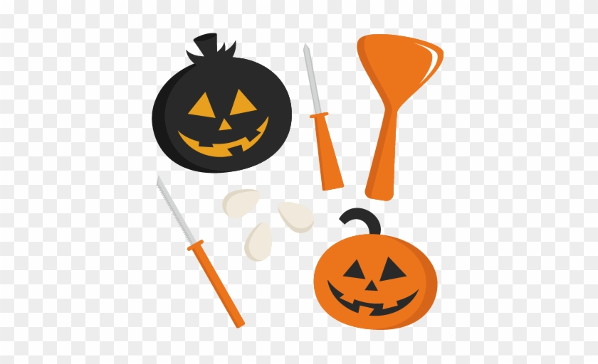 Carving Set Svg Cutting Files Cute Cut Files For Cricut - Pumpkin Carving Clip Art #250893
