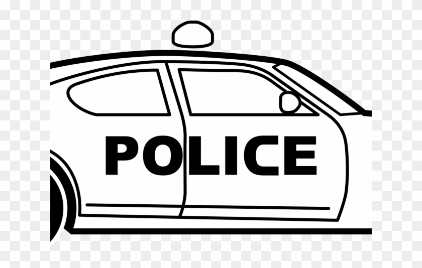 Black and white police car picture — 9
