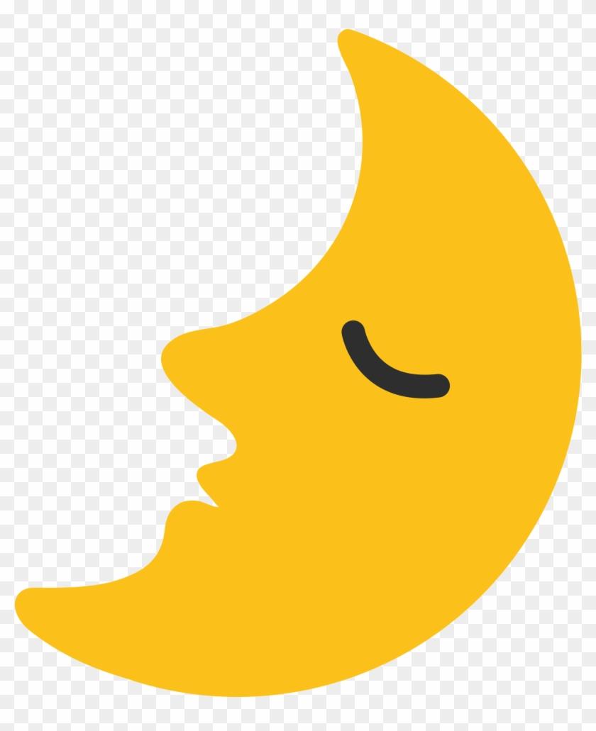 Transparent Moon Emoji - Emoji 🌛 #1604660