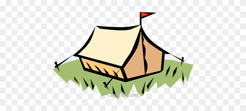 Camping Tent Royalty Free Vector Clip Art Illustration - Scout Camp #1604752