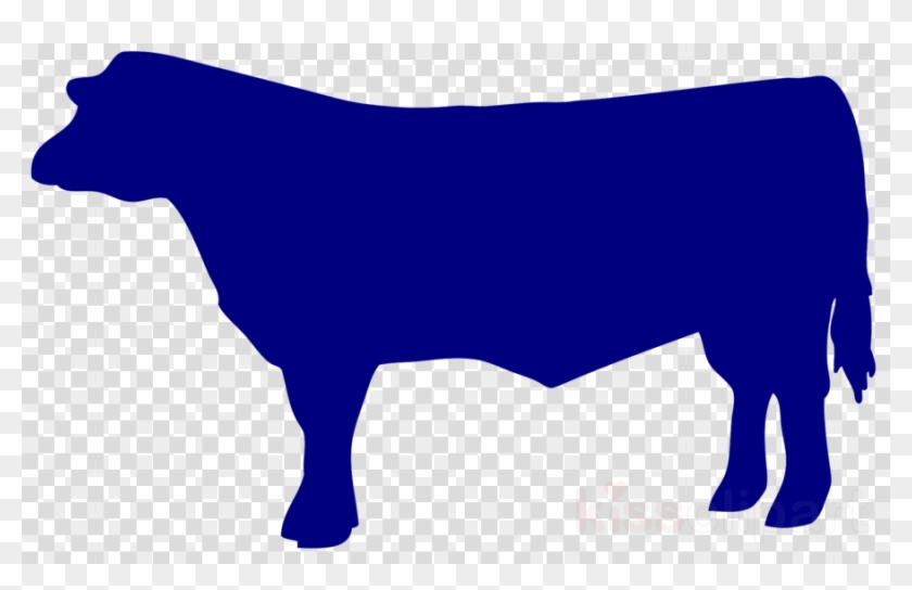 Outline Of A Beef Cow Clipart Angus Cattle Beef Cattle - Png Black Paint Brush Stroke #1604782