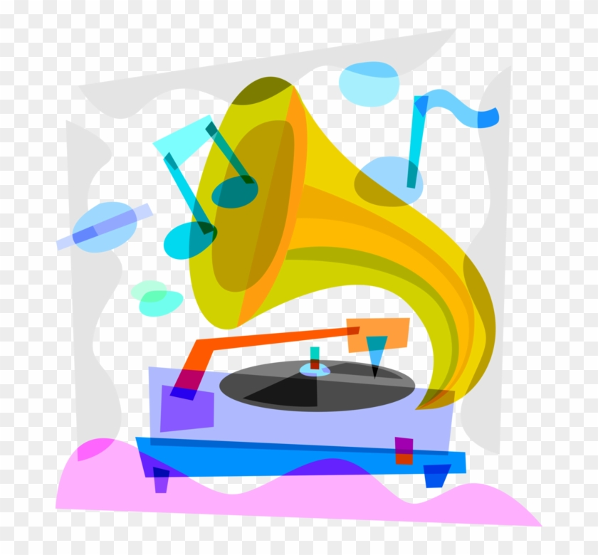vector illustration of gramophone phonograph record graphic design free transparent png clipart images download clipartmax