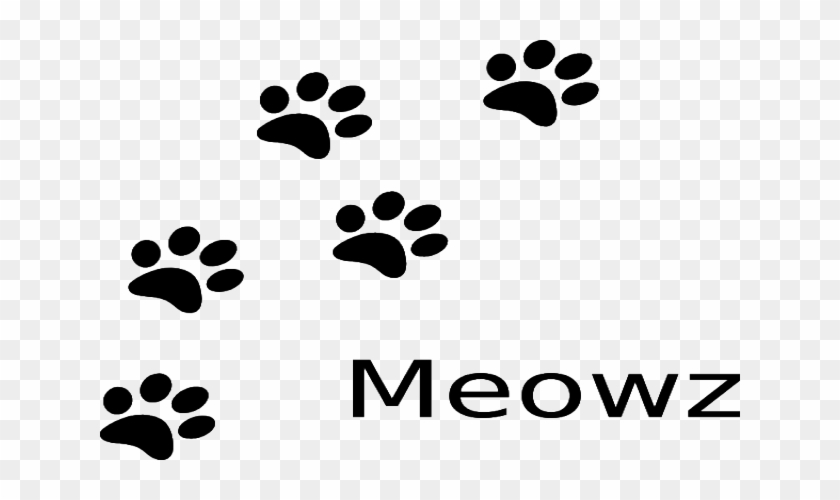 Cat Paw Print Clipart Cat Dog Clip Art - Cat Paw Print Drawing #1607970