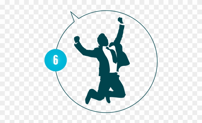 Image Library Business Man Silhouette At Getdrawings - Jumping Happy Stock Businessman #1608434