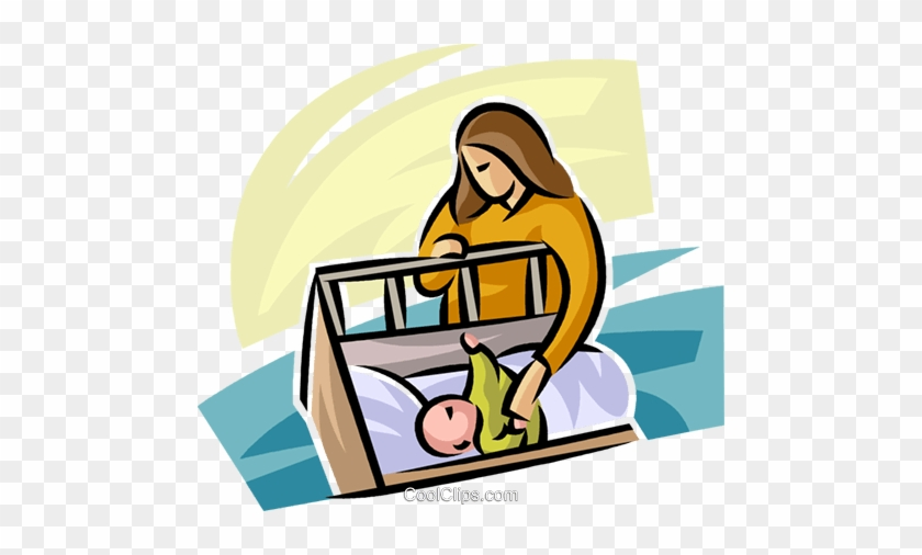 Pregnancy And Newborn Babies Royalty Free Vector Clip Cartoon Baby Sleeping In Cot Free Transparent Png Clipart Images Download