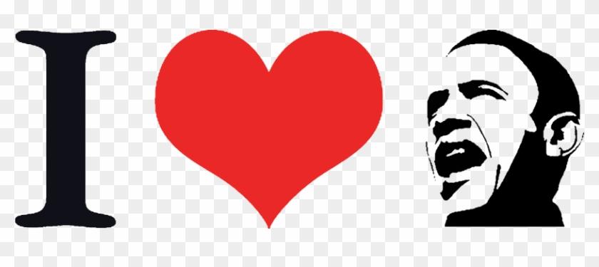The I Heart Obama T Shirt - Png I Love #1609791