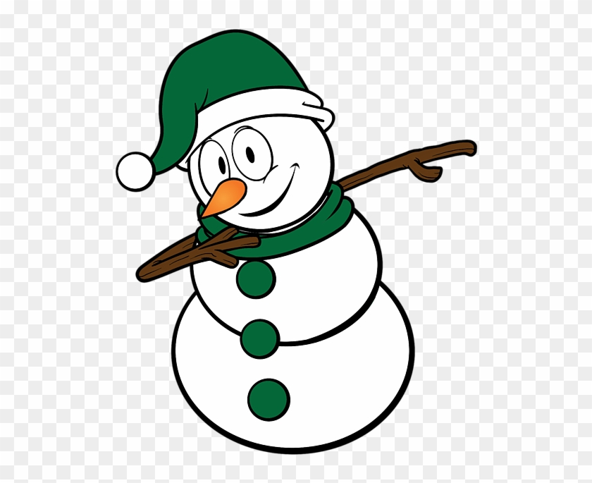Bleed Area May Not Be Visible - Cool Christmas Drawings Snowman #1610080