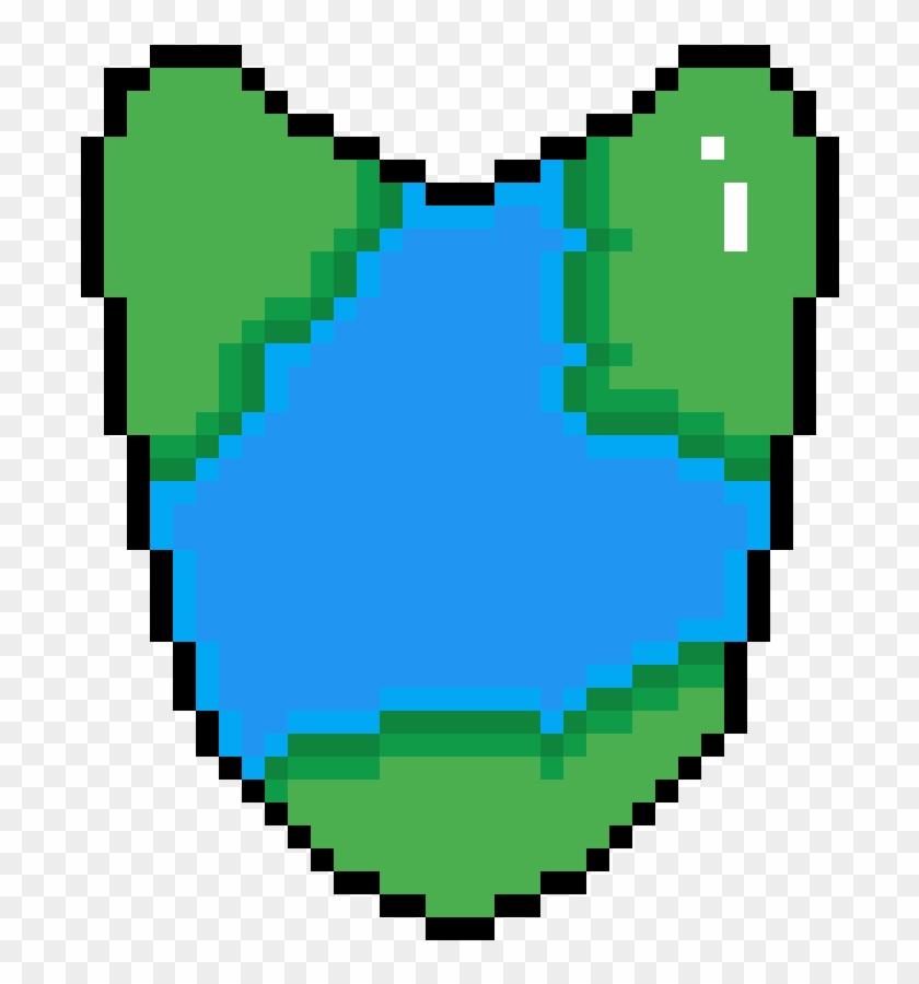Earth Locket - Grid Pickle Rick Pixel Art #1610661