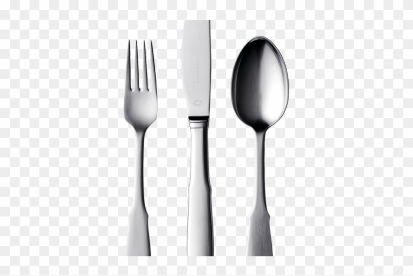 Spoon Clipart Folk - Plate Knife Fork Spoon Table #1611354
