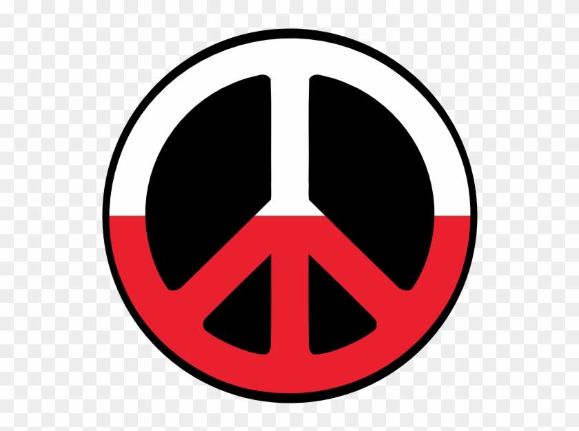Polish Symbols - Rainbow Peace Sign - Free Transparent PNG