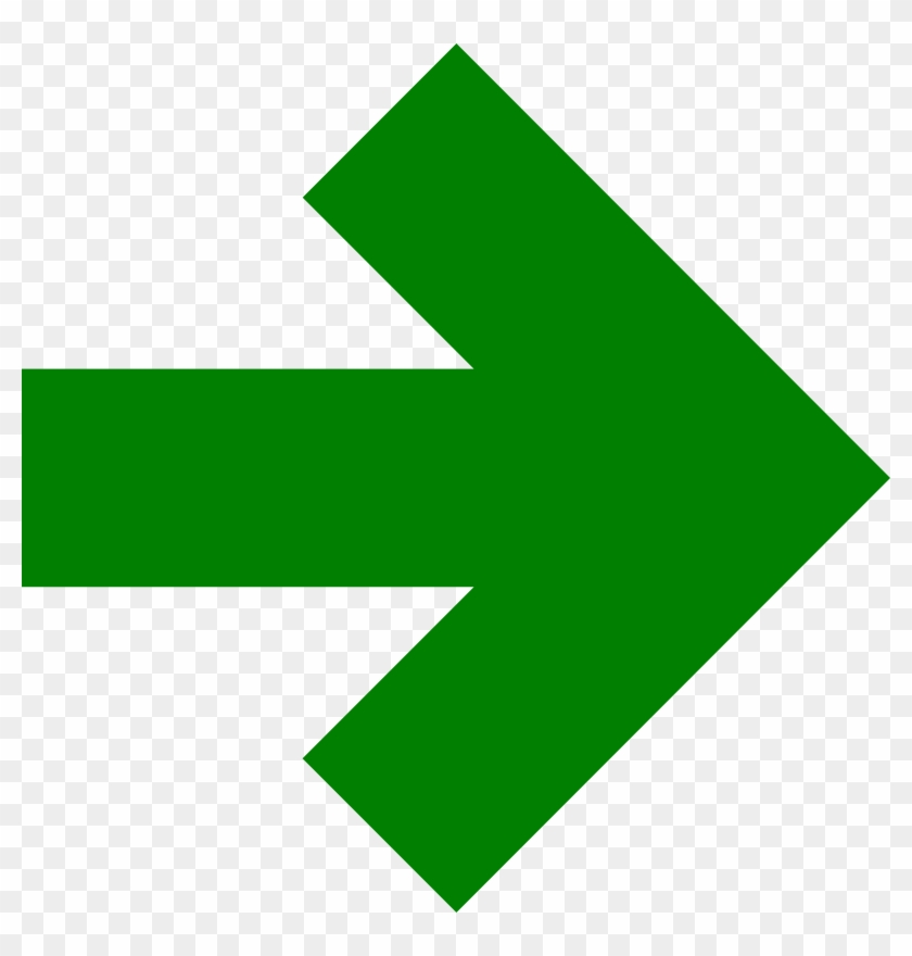 Clip Royalty Free Download Big Image Png - Green Arrow Pointing To The Right #1614163