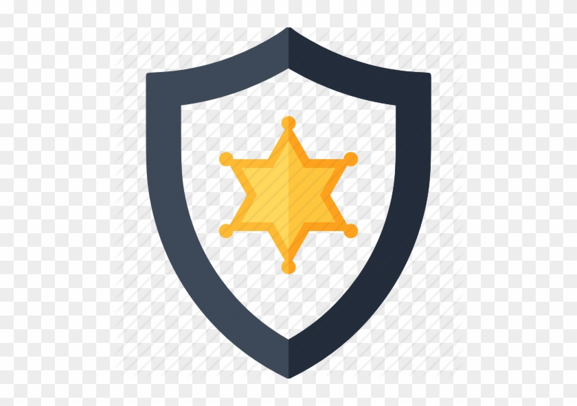 Security Shield Clipart Police Badge - Sheriff Star Svg #1615127