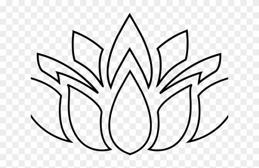 Lotus Clipart Round Flower Yoga Flower Silhouette Png Free
