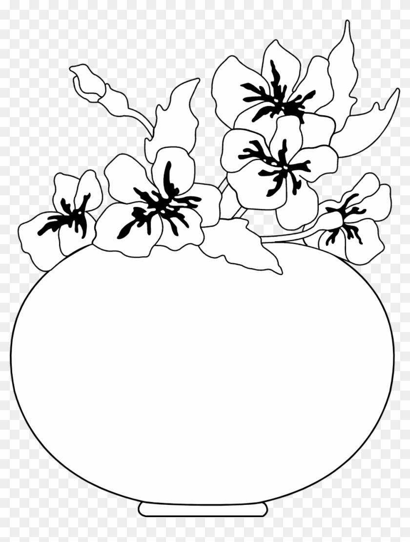 958 X 1221 3 Vas Bunga Hitam Putih Free Transparent Png