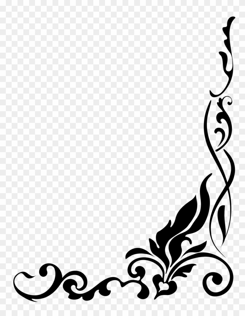 Classy Poster Border - Border Flower Clipart Black And White Png #1615827