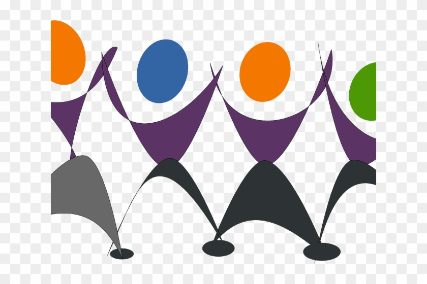 Chimes Clipart Choir - Dancing Happy People Clipart #1616164