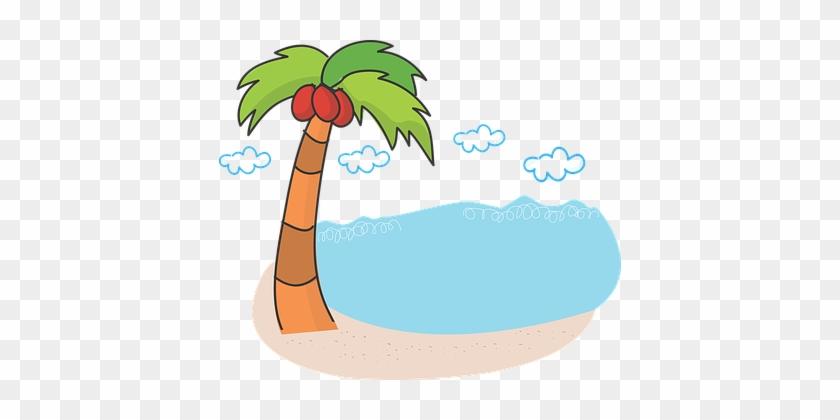 Palm Tree, Beach, Sea, Scenery - Coconut Tree Beach .png #1618298