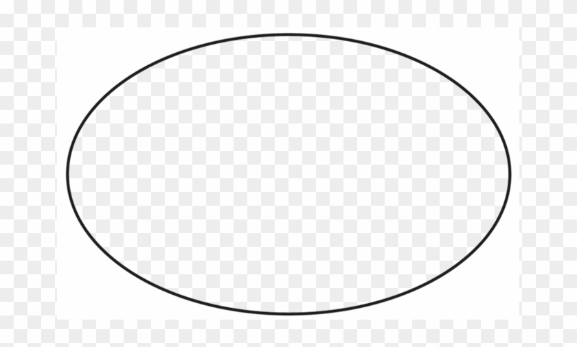 Oval Yard Signs - Oval Shape Clipart Black And White #1618763