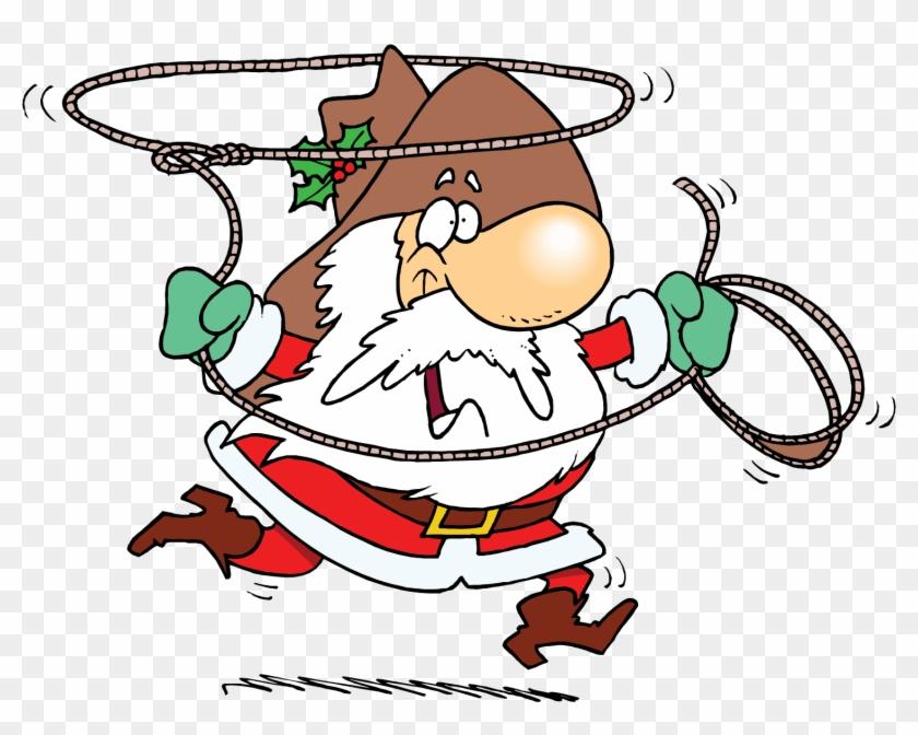 Hat Christmas Lasso Transprent - Santa Claus Cowboy Png #1620069