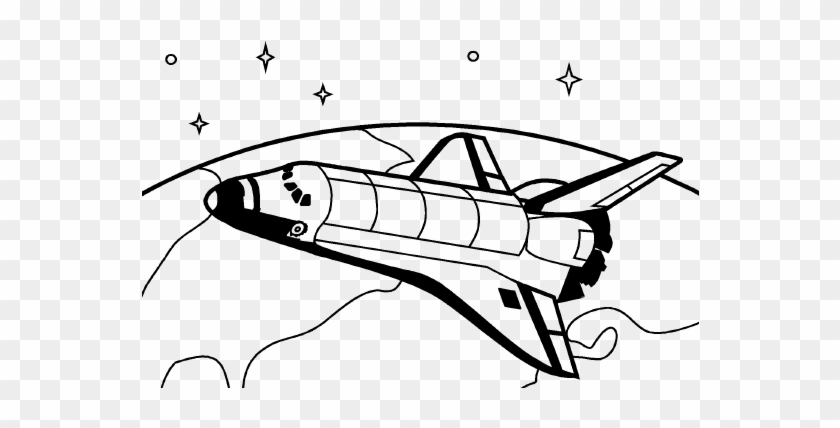 Space Shuttle Line Drawing