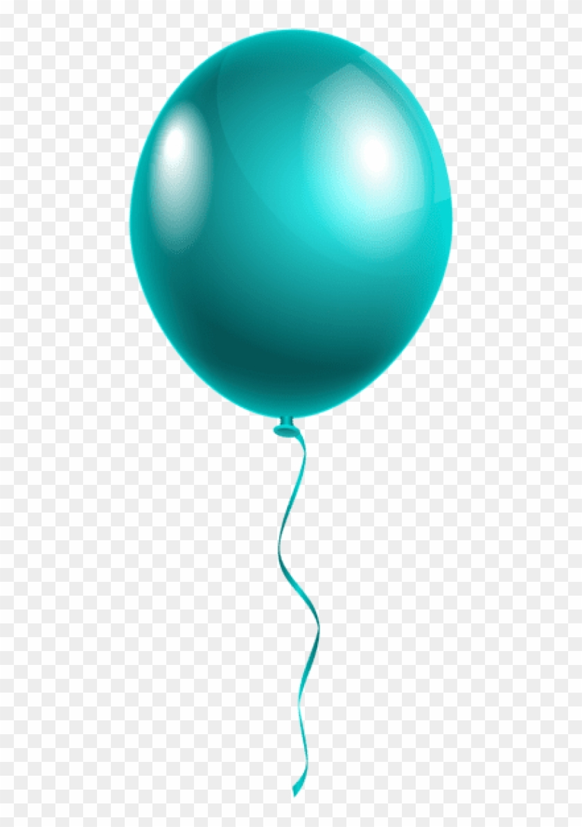 Free Png Download Single Modern Blue Balloon Png Images - Happy Birthday Single Balloon #1623537