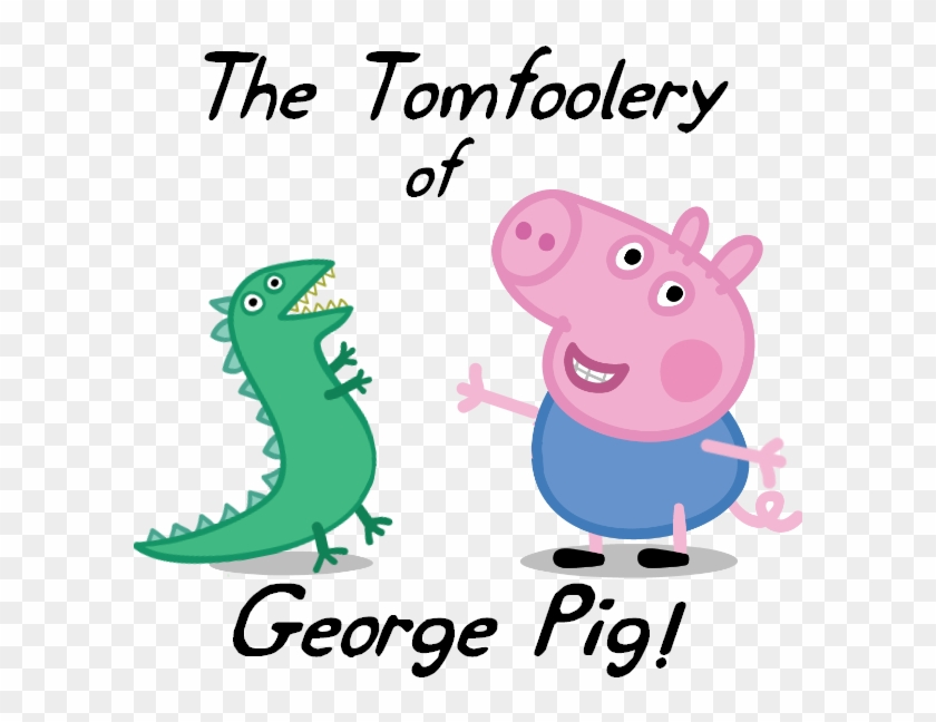 Tuning Clipart Preschool Music - Peppa Pig George With Dinosaur #1623794