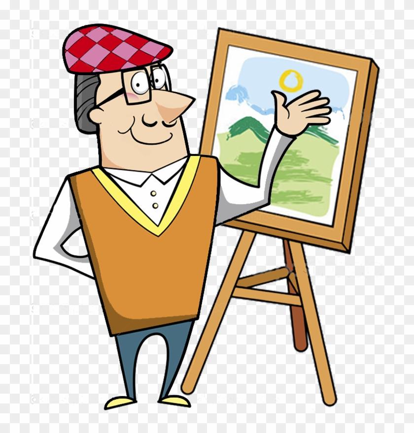 картинка или рисунок профессии художник вдоль, поперёк через