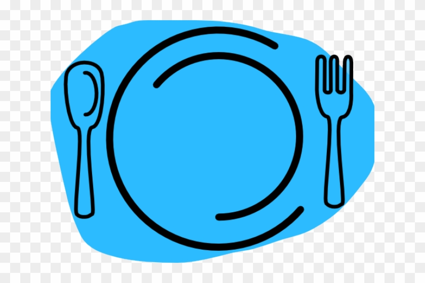 Clipart Plate With Knife And Fork #1626925