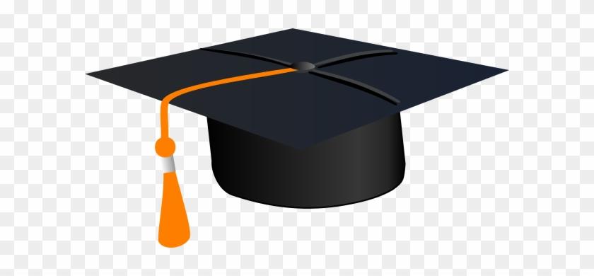 Birrete Clip Art - Graduation Cap Orange Tassel #1628734