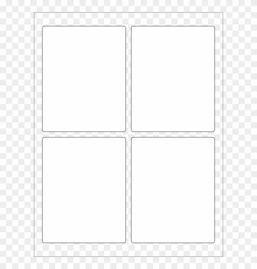 Free Wl-162 Label Template - Transparent Four Square Grid