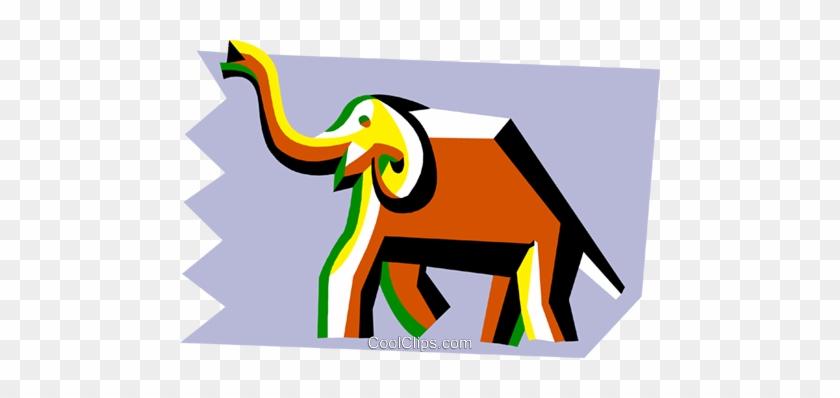 Elefante Estilizada Livre De Direitos Vetores Clip - Indian Elephant #1629192