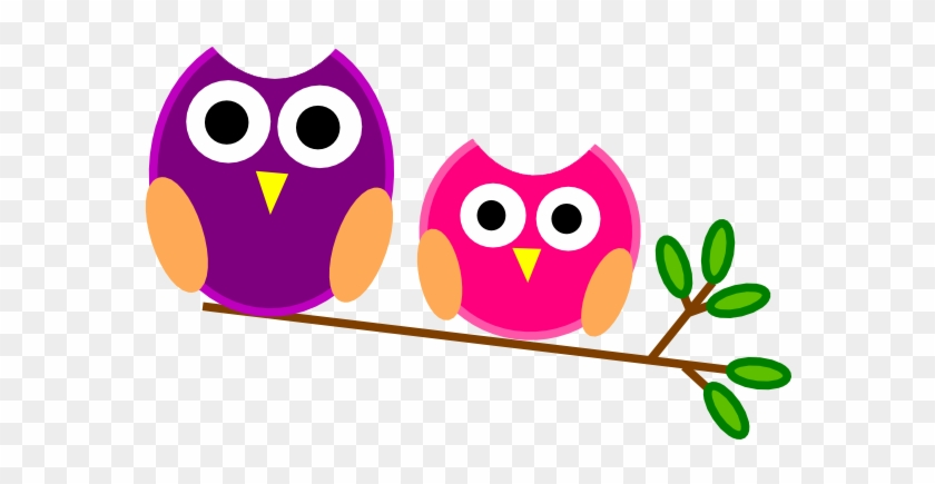 Free Two Cute Cartoon Owls Perched On A Branch Clip - Welcome To Our Classroom Sign Editable #251233