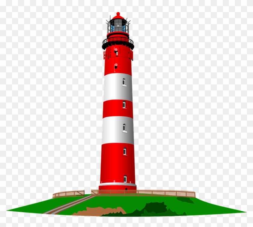 Red And White Lighthouse Clip Art - Lighthouse Clipart #251304