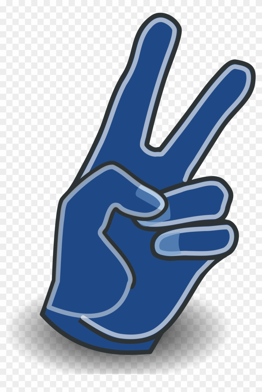 Peace Sign Clipart Blue - Draw Peace Sign Left Hand #251929