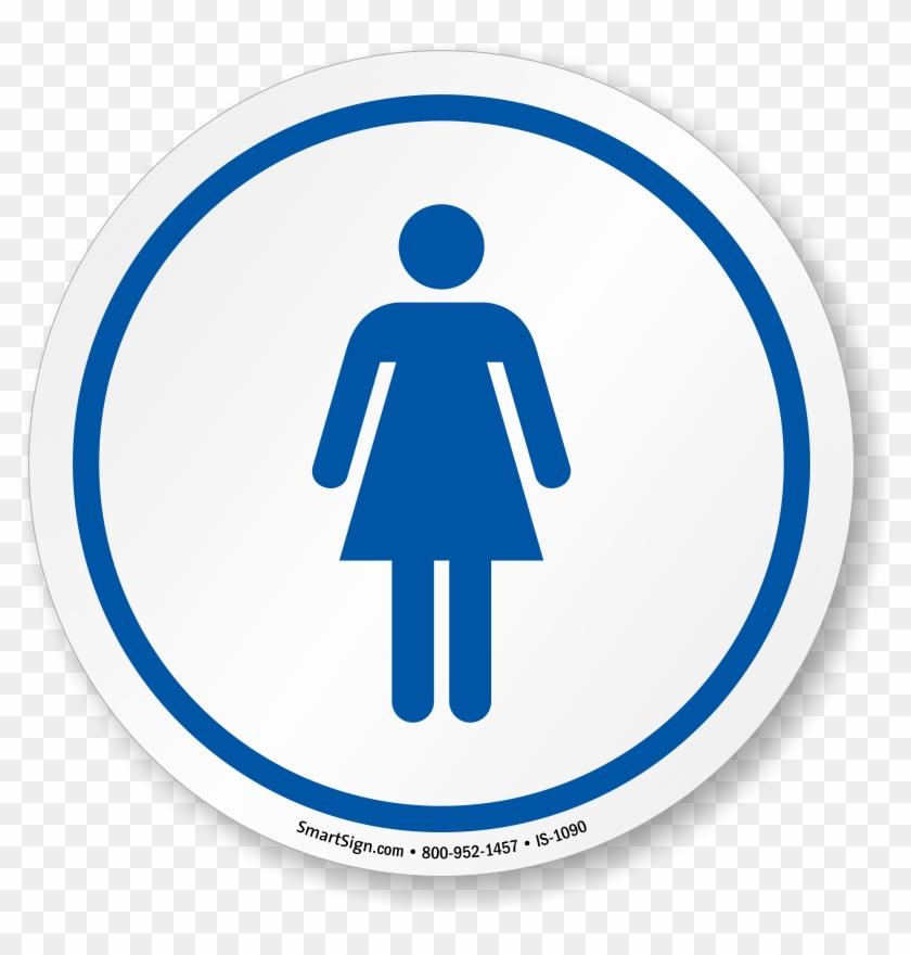 Women's Restroom Symbol Sign, Sku - Women's Restroom Sign Printable #252100