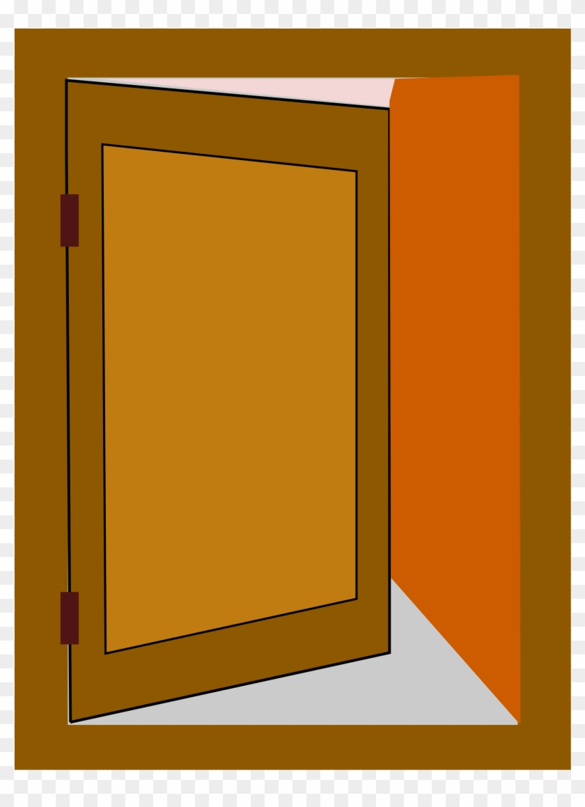 Open Office Clip Art Clipart Illustration Of An Open Transparent Cartoon Door Free Transparent Png Clipart Images Download