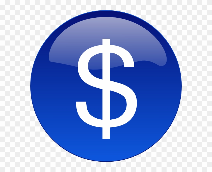 Blue Dollar Sign Clipart Kid - Circle - Free Transparent PNG