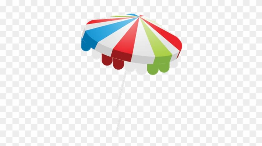 Summer Beach Set - Umbrella Clipart Png Gif Beach #252738