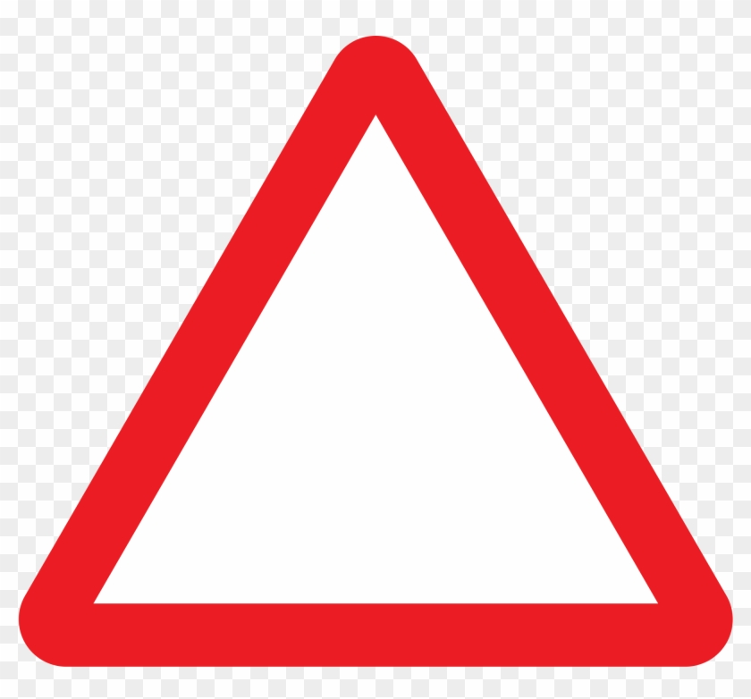 Open - Blank Triangle Road Sign #252749