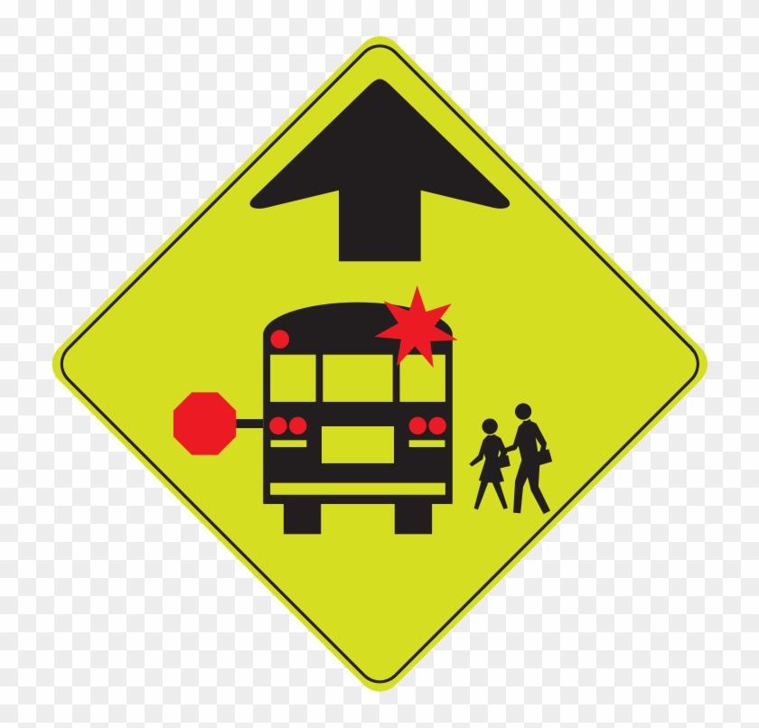 Medium Image - Stop For School Bus Sign #252803