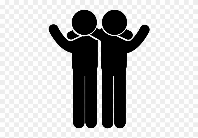 The Other Weakness These Individuals Have To Face Is - Friends Clipart Black And White Png #252914