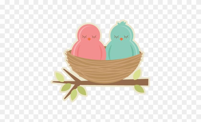 Birds In Nest Svg Cutting Files For Scrapbooking Birds - Bird In Nest Clipart Png #253106