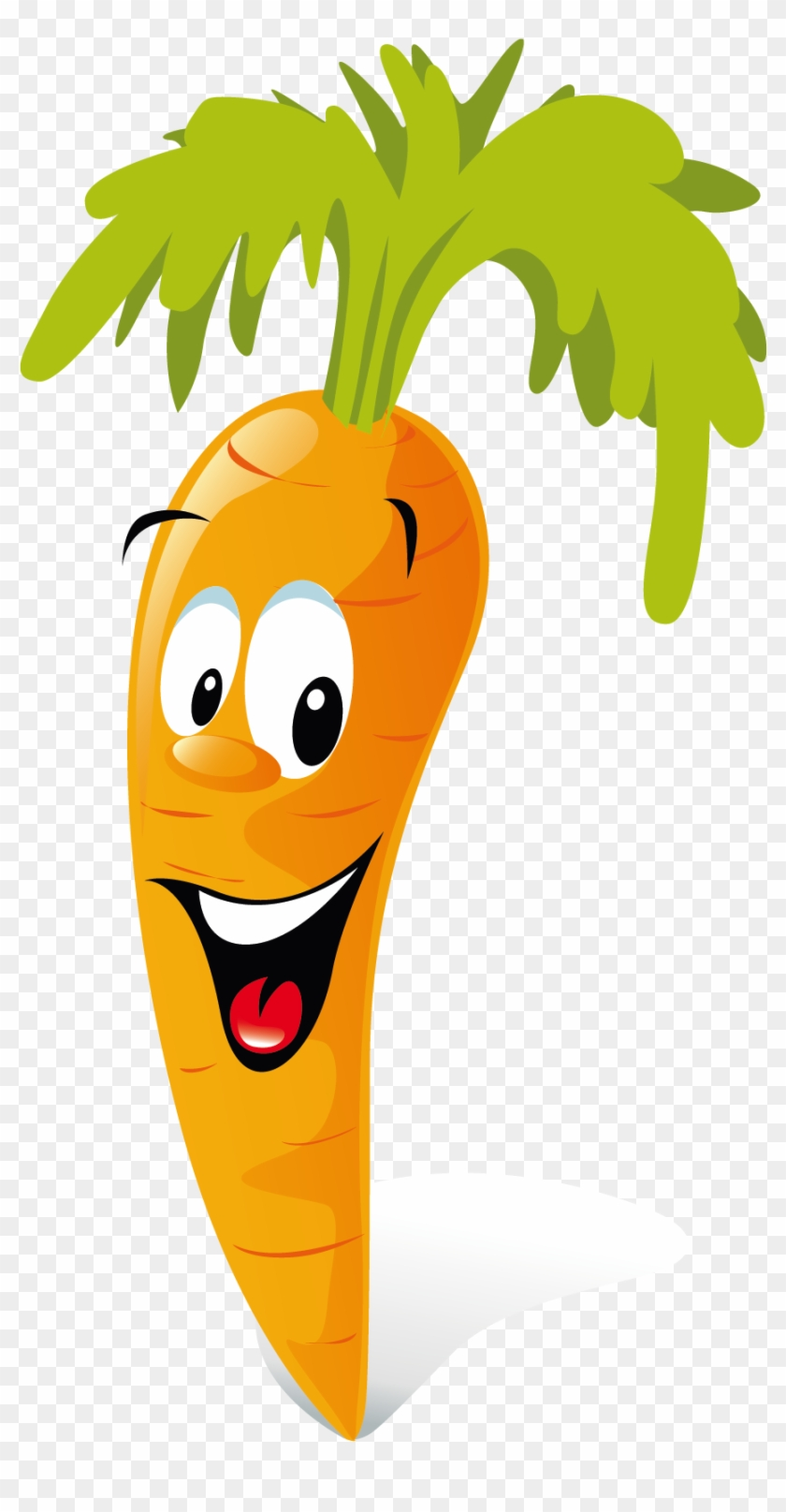 Carrot Animation Vegetable Clip Art - Fruit And Vegetables Cartoon #253277
