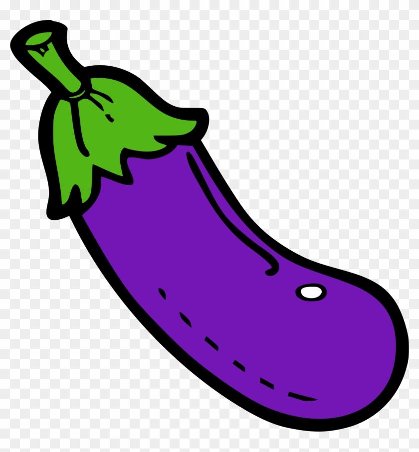Big Image - Clip Art Eggplant #253576