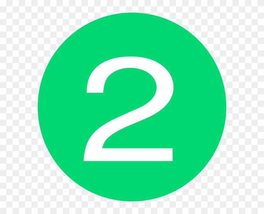 Number 2 Button Green Clip Art At Clker - Number 1 Button #254032