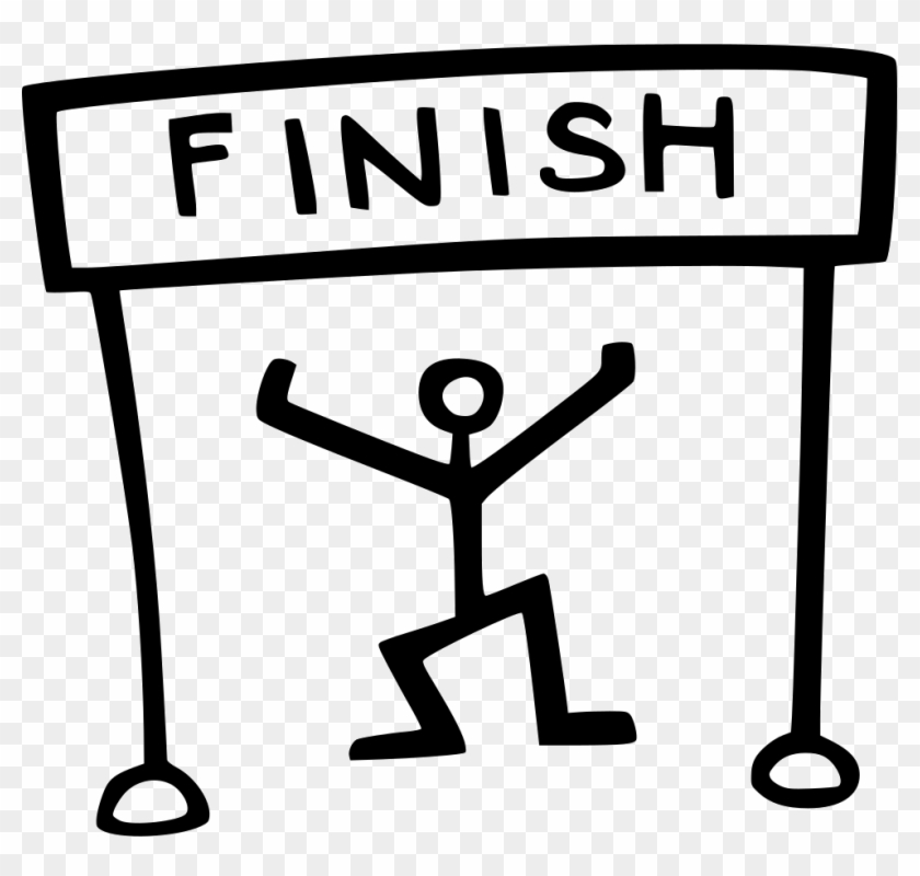 Finish Line Clipart >> Finish Line Runner Comments Finish Line Clipart Black And White