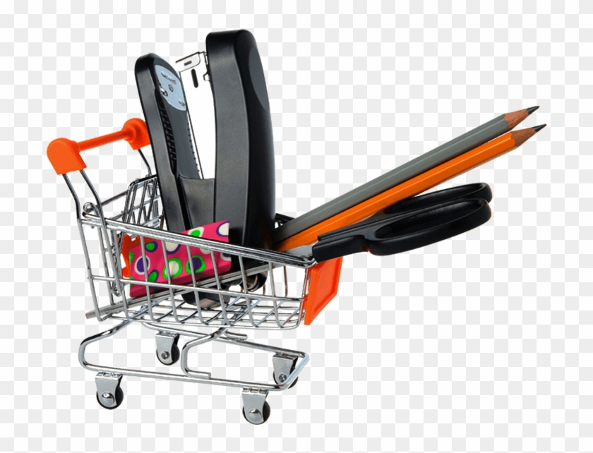 Download - Office Supplies Shopping Cart #1629958