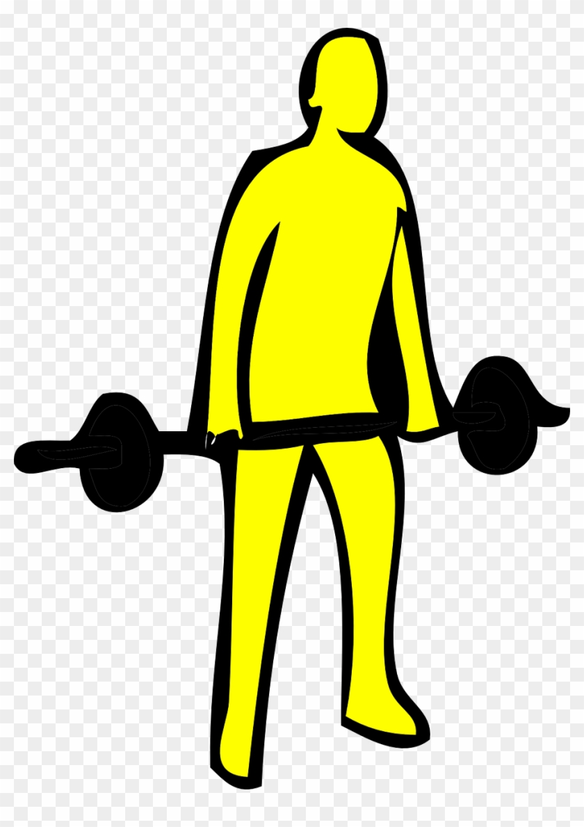 Weightlifter Weightlifting Fitness - Drawing Of A Person Lifting Weights #1630434