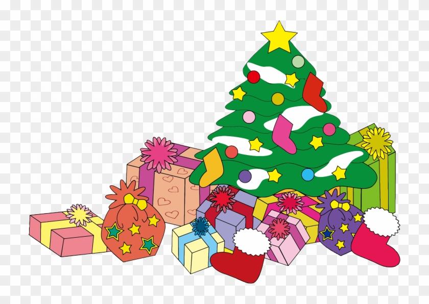 Presents Clipart Toymas Tree With Huge Freebie Download - Christmas Tree With Presents Clipart #1631261